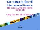 Bài giảng Tài chính quốc tế: Chương 1 - ThS. Đỗ Thị Thu Thủy