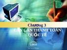 Bài giảng Tài chính quốc tế: Chương 3 - ThS. Đỗ Thị Thu Thủy