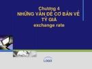 Bài giảng Tài chính quốc tế: Chương 4 - ThS. Đỗ Thị Thu Thủy