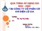 Thuyết trình: Quá trình áp dụng ISO 9001 : 2000 tại công ty cổ phần cơ khí điện Lữ Gia