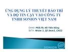 Thuyết trình: Ứng dụng lý thuyết bảo trì và độ tin cậy vào công ty TNHH Sonion Việt Nam