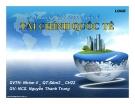 Thuyết trình quản trị kinh doanh quốc tế: Tài chính quốc tế
