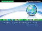 Bài giảng Ôn tập Lập trình hướng đối tượng - GV. Dương Khai Phong