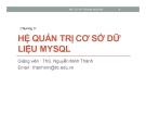 Bài giảng Mã nguồn mở: Chương 3 - ThS. Nguyễn Minh Thành