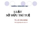 Bài giảng Luật Sở hữu trí tuệ - Lê Văn Hưng