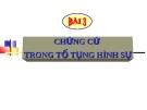 Bài giảng Luật Tố tụng Hình sự: Bài 3 - ThS. Võ Thị Kim Oanh