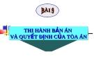 Bài giảng Luật Tố tụng Hình sự: Bài 9 - ThS. Võ Thị Kim Oanh