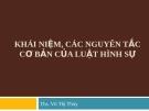 Bài giảng Luật Hình sự: Bài 1 -  ThS. Vũ Thị Thúy