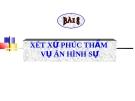 Bài giảng Luật Tố tụng Hình sự: Bài 8 - ThS. Võ Thị Kim Oanh