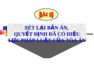 Bài giảng Luật tố tụng Hình sự: Bài 10 - ThS. Võ Thị Kim Oanh