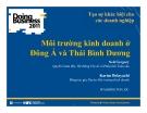 Bài giảng Môi trường kinh doanh ở Đông Á và Thái Bình Dương - Neil Gregory