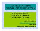 Bài giảng Một số kinh nghiệm thực hiện tự đánh giá trường TCCN TẠI TP.HCM - Đặng Thị Thùy Linh
