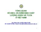 Bài giảng Tổng quan về ĐBCL và kiểm định chất lượng GDĐH và TCCN ở Việt Nam