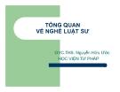 Bài giảng Tổng quan về nghề luật sư - ThS. Nguyễn Hữu Ước