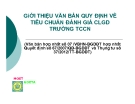 Bài giảng Giới thiệu văn bản quy định về tiêu chuẩn đánh giá CLGD trường TCCN