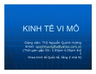 Bài giảng Kinh tế vi mô - ThS. Nguyễn Quỳnh Hương