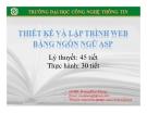 Bài giảng Lập trình và thiết kế web bằng ngôn ngữ ASP: Phần 5 - GV. Dương Khai Phong