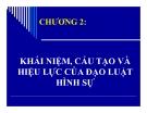 Bài giảng Luật hình sự - Chương 2: Khái niệm, cấu tạo và hiệu lực của đạo luật hình sự