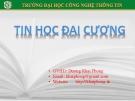 Ôn tập Ngôn ngữ lập trình C - GV. Dương Khai Phong