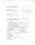 Đề thi lần 1 môn Kinh tế học đại cương - ĐH Dân Lập Văn Lang
