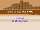 Bài giảng Cơ sở dữ liệu Web và XML: Chương 2 - GV. Hồ Văn Phi