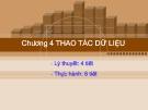 Bài giảng Cơ sở dữ liệu quan hệ và SQL: Chương 4 - CĐ CNTT Hữu nghị Việt Hàn