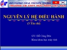 Bài giảng Nguyên lý hệ điều hành: Chương 2 - GV. Đặng Quang Hiển