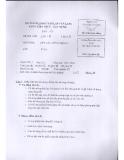 Đề thi môn kết cấu công trình - ĐH Dân Lập Văn Lang