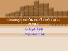 Bài giảng Cơ sở dữ liệu quan hệ và SQL: Chương 9 - CĐ CNTT Hữu nghị Việt Hàn