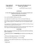 Quyết định số: 201/QĐ-UBND