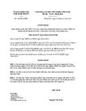 Quyết định số: 129/QĐ-UBND (2014)