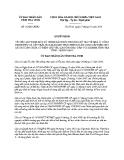 Quyết định số: 85/QĐ-UBND (2014)