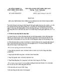 Báo cáo số: 386/BC-BNN-KTHT