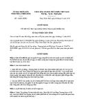 Quyết định số: 18/QĐ-UBND (2014)