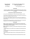 Quyết định số: 47/QĐ-UBND (2014)