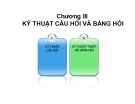 Bài giảng Điều tra xã hội học: Chương 3 - ThS. Nguyễn Thị Xuân Mai