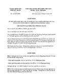 Quyết định số: 122/QĐ-UBND (2014)