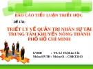 Đề tài: Triết lý về quản trị nhân sự tại trung tâm khuyến nông TP.HCM