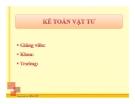 Bài giảng Tin học kế toán: Bài 4