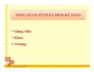 Bài giảng Tin học kế toán: Bài 1