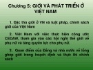 Bài giảng Chương 5: Giới và phát triển giới ở Việt Nam