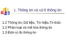 Bài giảng Tin học cơ sở: Bài 1 - Trần Thị Minh Châu
