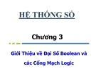 Bài giảng Nhập môn mạch số: Chương 3 - Hà Lê Hoài Trung