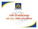 Bài giảng Tiền tệ ngân hàng: Chương 9 - ThS. Trần Linh Đăng