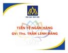 Bài giảng Tiền tệ ngân hàng: Chương 6 - ThS. Trần Linh Đăng