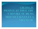 Bài giảng Pháp luật thuế: Chương 4 - GV. Nguyễn Thị Hoài Thu
