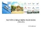 Bài giảng Nguyên lý hoạt động ngân hàng - GV. Chu Mai Linh