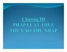 Bài giảng Pháp luật thuế: Chương 3 - GV. Nguyễn Thị Hoài Thu