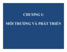 Bài giảng Kinh tế môi trường: Chương 1 - GV. Phạm Hương Giang