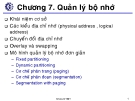 Bài giảng Hệ điều hành: Chương 7 - ThS. Hà Lê Hoài Thương